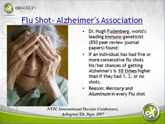 Flu vaccine and Alzheimer's. What's next, prions?