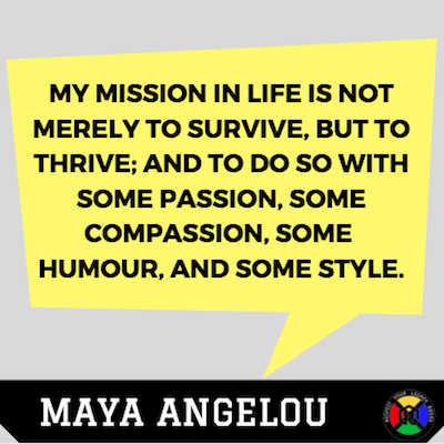 Maya Angelou Quote-Passion