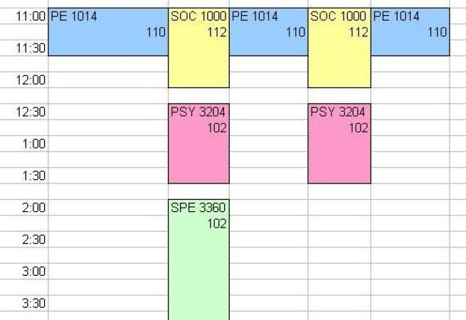 create revision timetable