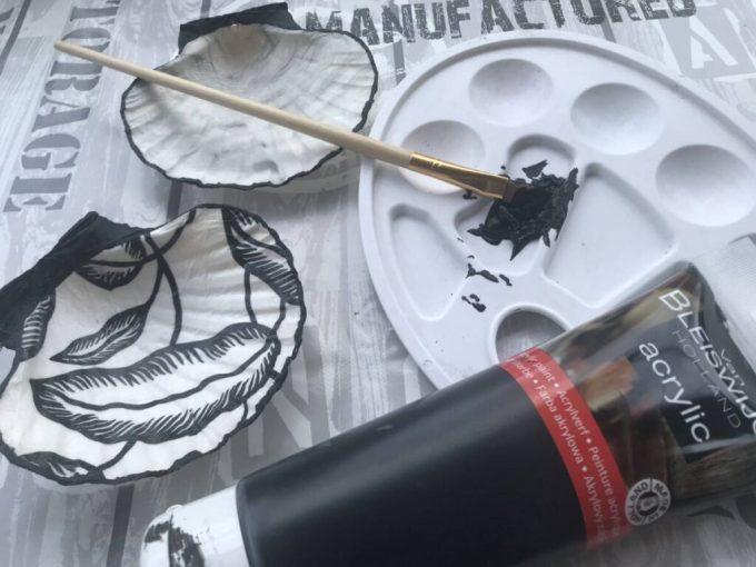 Peinture contour de la coquille