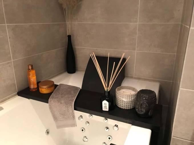 plateau de baignoire installé