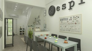 respite coffee cookies people dining area
