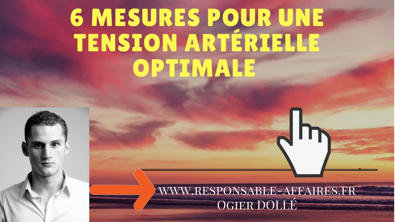 6 mesures pour une tension artérielle optimale
