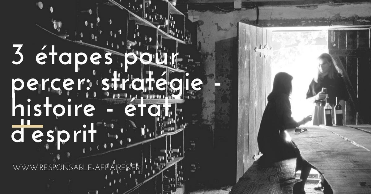 FINANCE – 3 étapes pour percer: stratégie – histoire – état d'esprit
