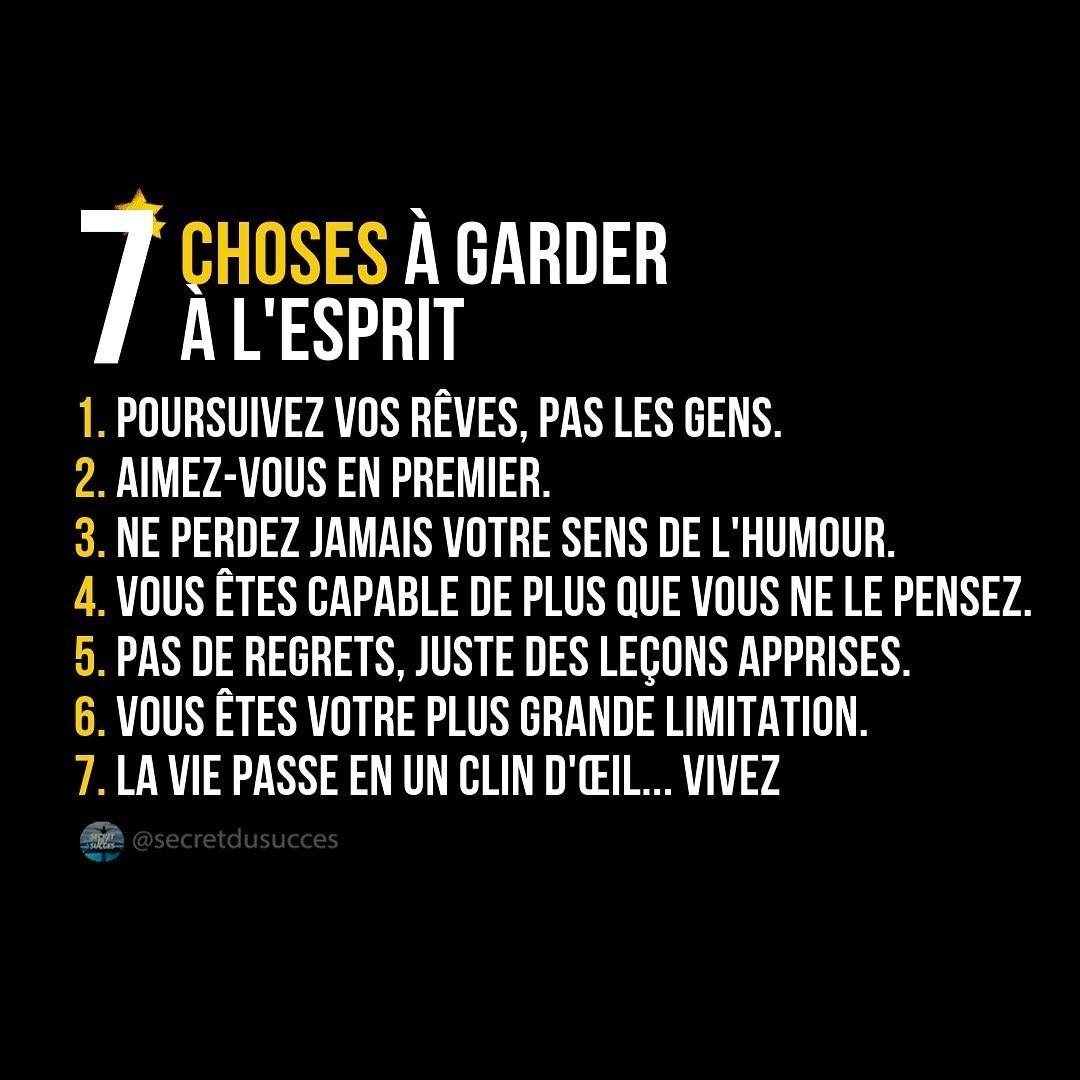 7 choses à garder à l'esprit
