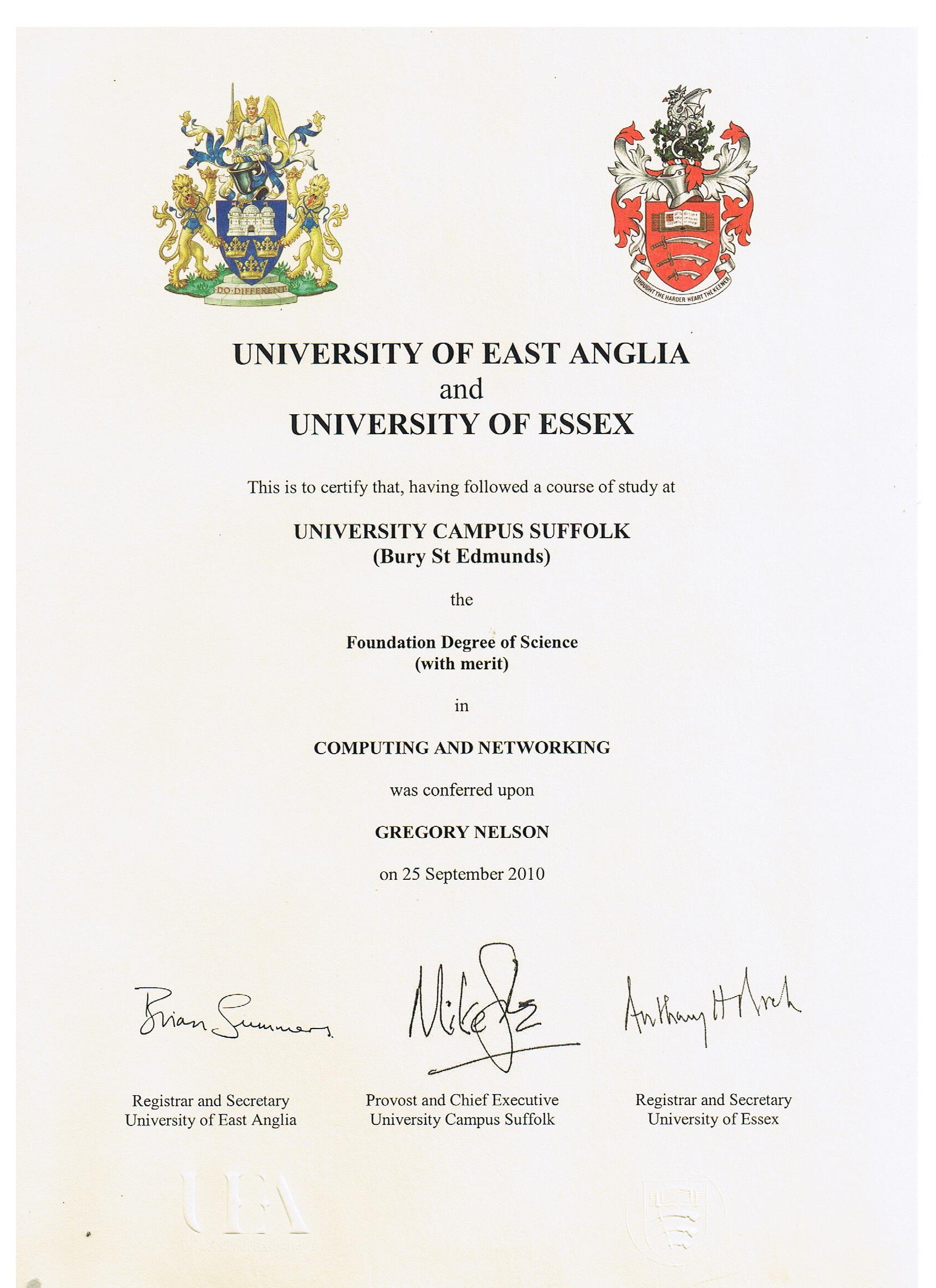Gregs fondation degree