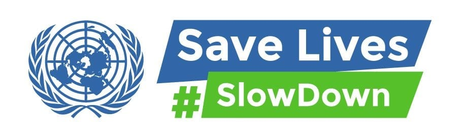 Save lives slow down banner