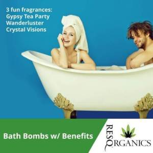 A couple enjoys the benefits of these pain relieving bath bombs.