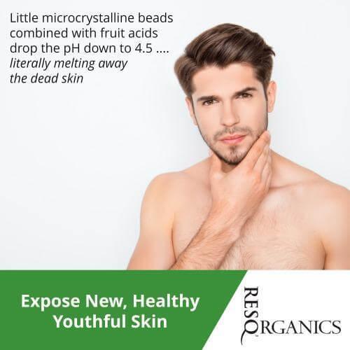 Microdermabrasion Scrub Exfoliate for Men - ResQ Organics Pets