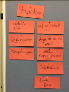 Eindrücke aus den Workshops: Stolpersteine der Vernetzung