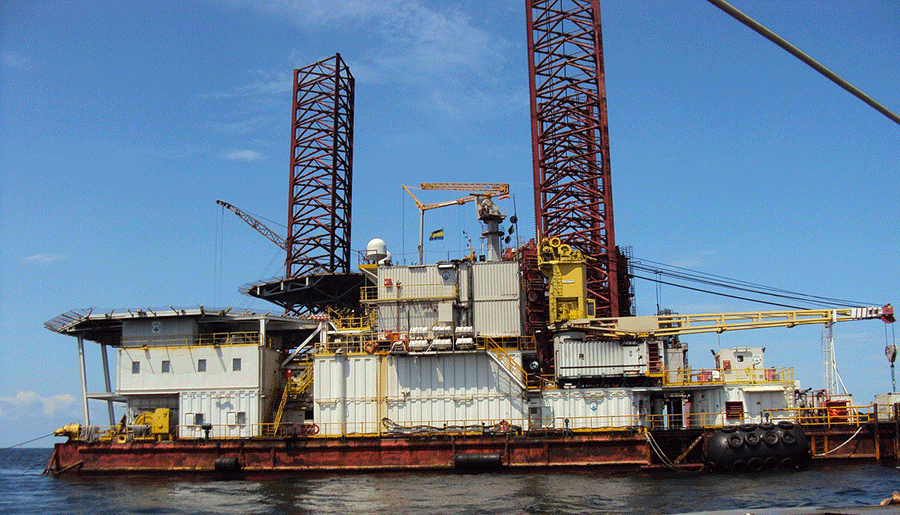Oil platform in Gabon