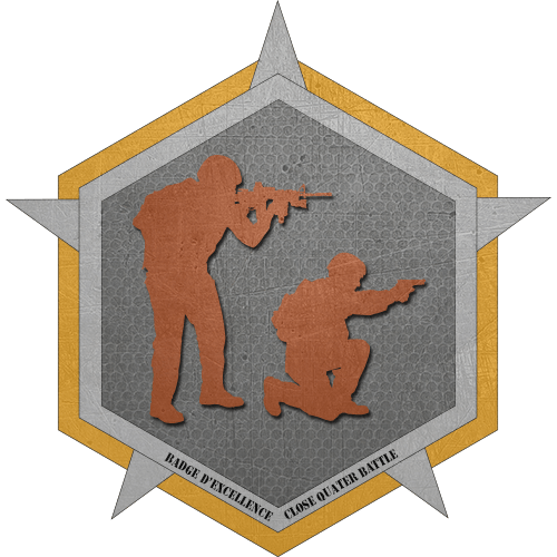 Badge certification CQB : Bronze