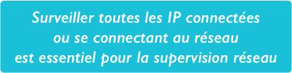 Toutes les adresses IP connectées doivent être surveillées