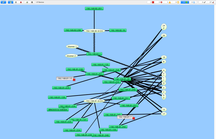La carte est mise à jours pour refléter l'architecture physique du réseau