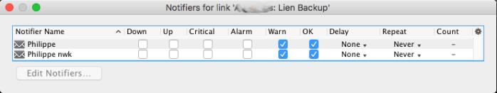 Intermapper permet de déterminé avec précision les alertes du lien de spare