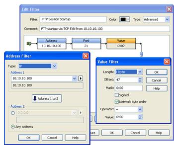 Identifier le paquet TCP SYN du FTP