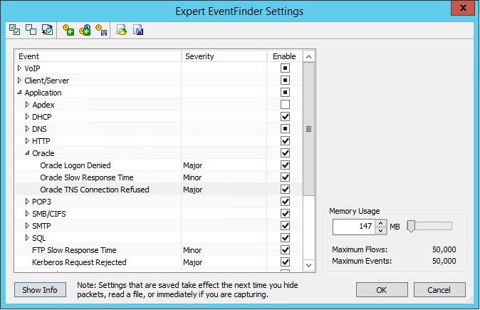 Omnipeek détecte les problèmes de connexion à Oracle automatiquement et vous permet d'identifier les postes concernés