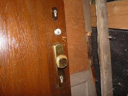 Haustür mit Spion