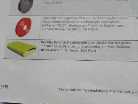 Flachkanalsystem Junkers Bosch