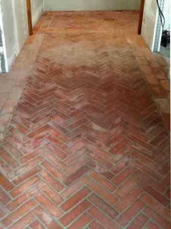 Bodenplatten Bodenziegel Bodenfliesen Backstein alte Mauersteine natürlich ursprünglich als Fliese geschnitten Landhaus shabby chic