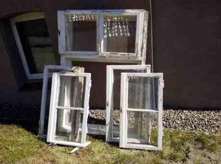2xBerliner Holzkastenfenster doppelflüglig, und geteilt mit sprossen