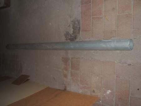 Zink- Dachrinnen- Fallrohr, 2m Länge, Durchm.87mm, Dicke 0,65mm