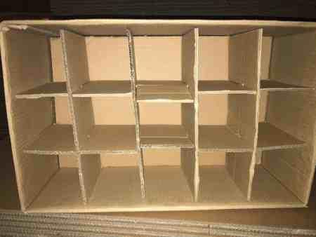 Gläserkartons, 30Fächer inkl. Zwischenplatte und Stege, 75cm x 35cm x 40cm