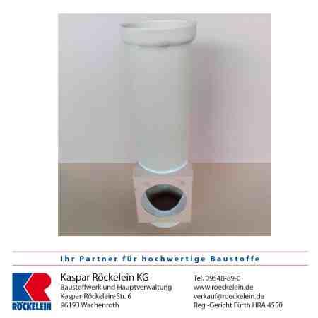 Kamin – Reinigungsanschluss – OSMOTEC isostat. unten, 100/100 mm 66 cm lang