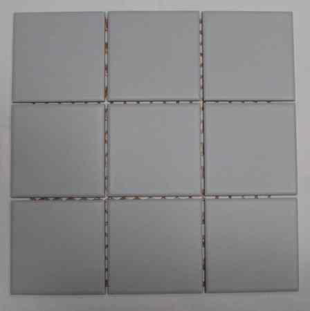 Rutschfeste Mosaikfliesen, Villeroy & Boch, grau, Matten 29,7 x 29,7 cm, Mosaikfliese 9,7 x 9,7 cm, 28 qm gesamt