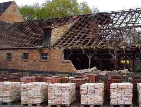 Ziegelboden Mauersteine Backsteine Rückbausteine Bodenziegel Steinboden Steingut terracotta Ziegelfliesen Ziegelpflaster Landhaus