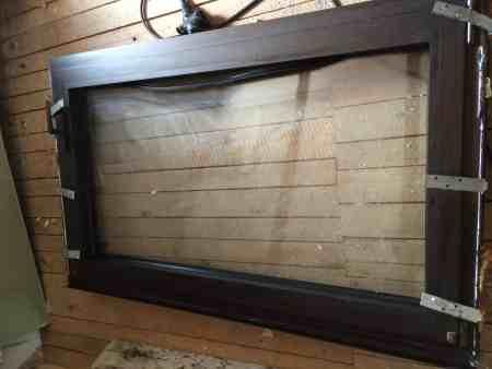 Fenster, Querformat, dunkel eloxiert