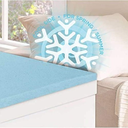 Novaform 3 Seasonal Memory Foam Mattress Topper