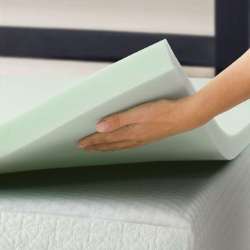 Best Price Mattress Queen Mattress Topper - 1.5 Inch Green Tea Infused Memory Foam Bed Topper
