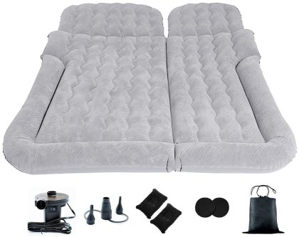Hikotor Car Air Mattress with Electric Air Pump for Back Seat