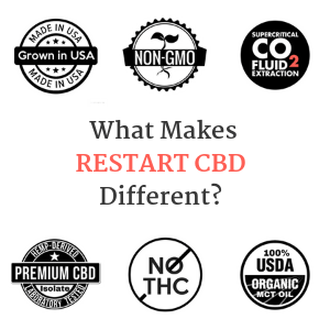 RESTART CBD • What makes us Different? Our CBD. Your Health.