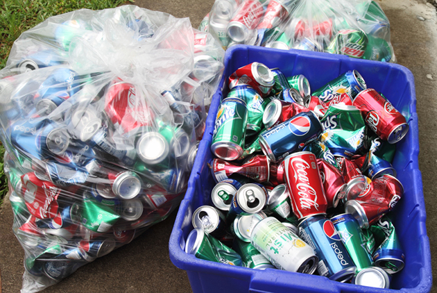 restart giving recycles bottles and cans for cash
