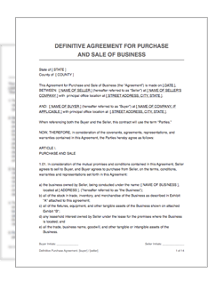 Both parties agree to not share the details of the business transfer. Definitive Purchase Agreement Restart Pro