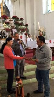 El Sr. Marco Espinosa donó el 50% de su premio al proyecto de restauración.
