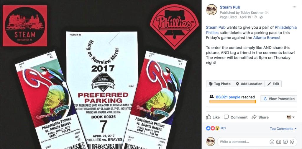 restaurant facebook promotion