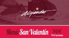 Menú de San Valentin Restaurantes Almería