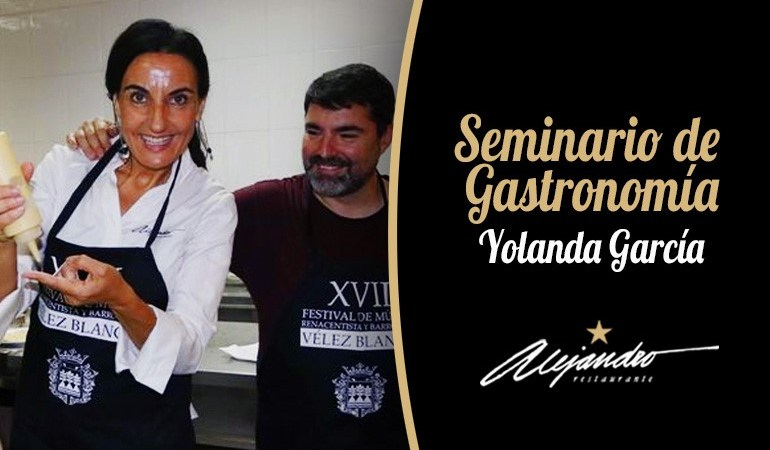 seminario de gastronomía Yolanda García Restaurante Alejandro