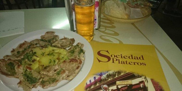 Puntas solomillo. Restaurantes de Córdoba Sociedad Plateros María Auxiliadora
