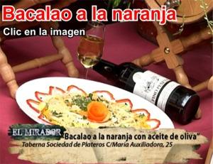 Bacalao a la naranja del Restaurante en Córdoba Sociedad Plateros María Auxiliadora