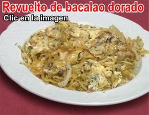 Revuelto de bacalao dorado del Restaurante en Córdoba Sociedad Plateros María Auxiliadora