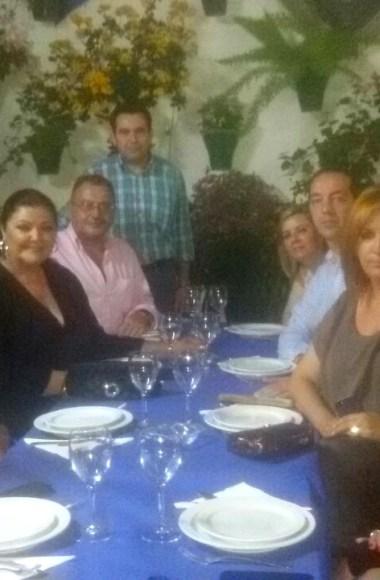 Charo Reina en el Restaurante en Cordoba Sociedad Plateros Maria Auxiliadora 01