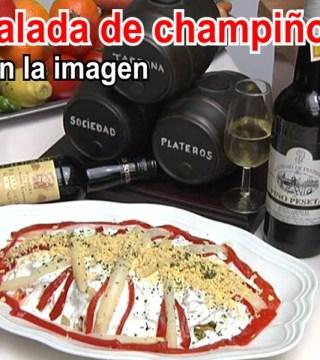 Ensalada champinones del Restaurante en Cordoba Sociedad Plateros Maria Auxiliadora