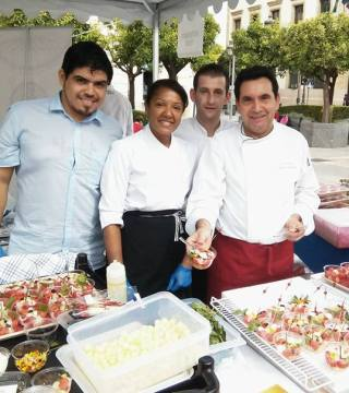 Manolo Bordallo y su equipo en Cordoba Gourmet 2015