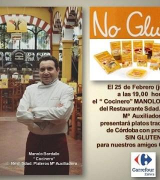 Manolo Bordallo en la Jornada Gastronomica sin Gluten para Celiacos de Carrefour Zahira 00