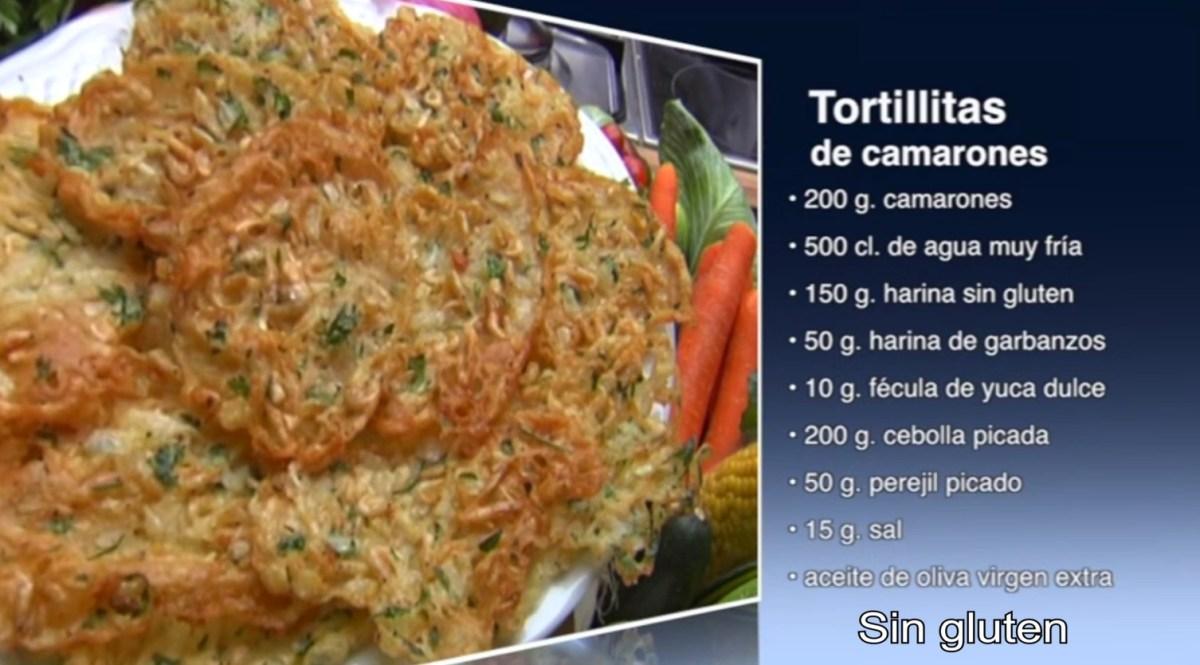 Tortillitas de camarones sin gluten