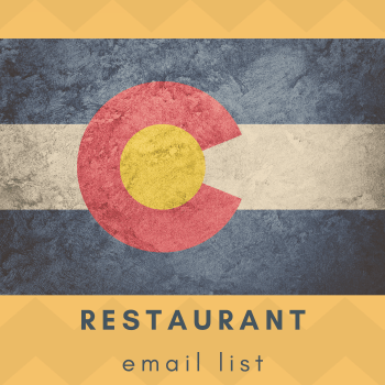 Colorado Restaurant Owners Email List